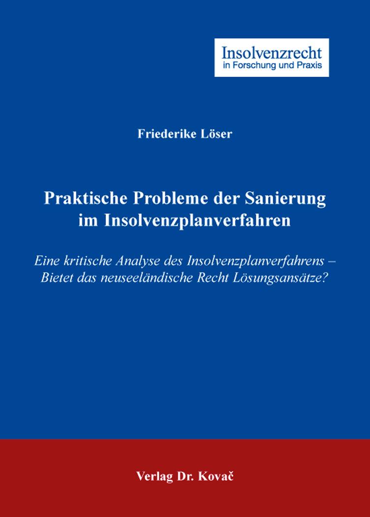 Cover: Praktische Probleme der Sanierung im Insolvenzplanverfahren