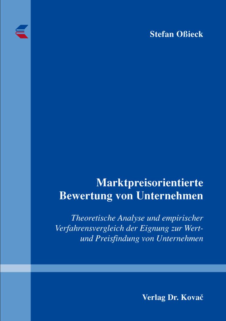Cover: Marktpreisorientierte Bewertung von Unternehmen