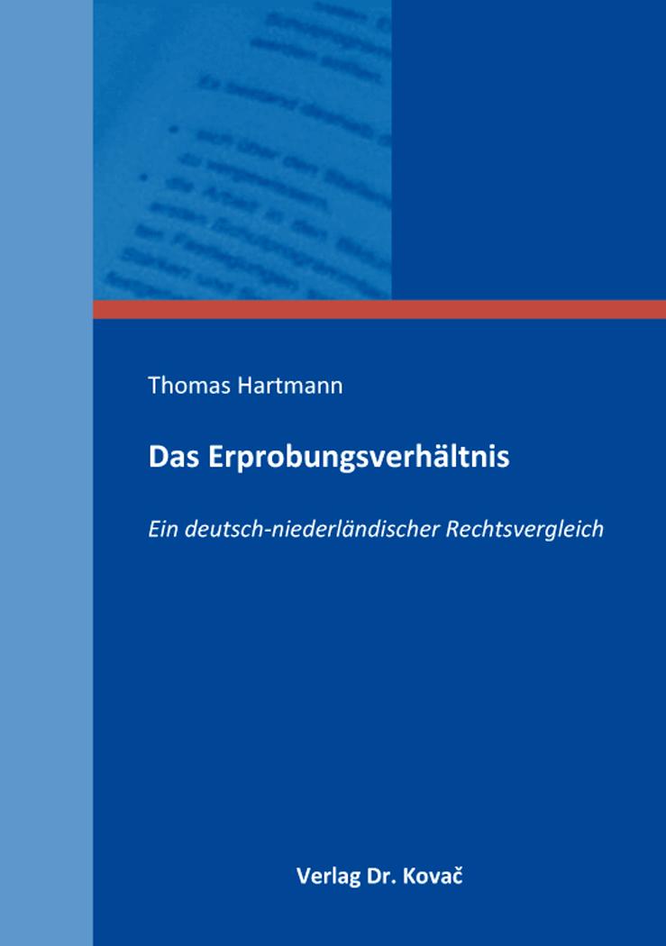 Cover: Das Erprobungsverhältnis