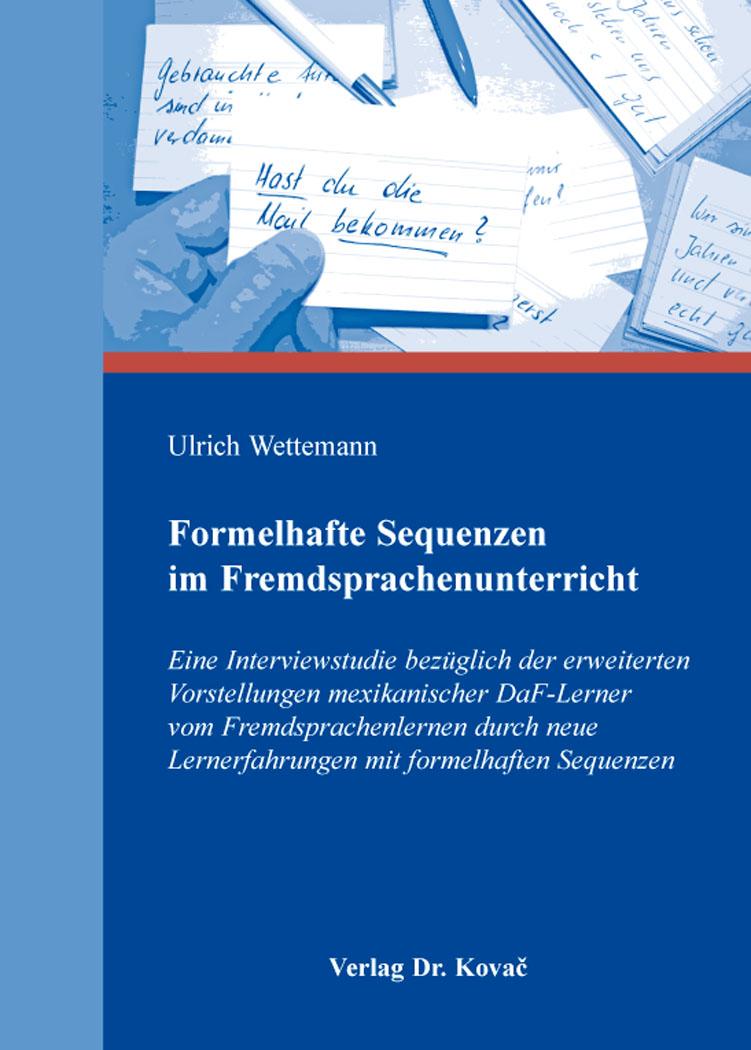 Cover: Formelhafte Sequenzen im Fremdsprachenunterricht