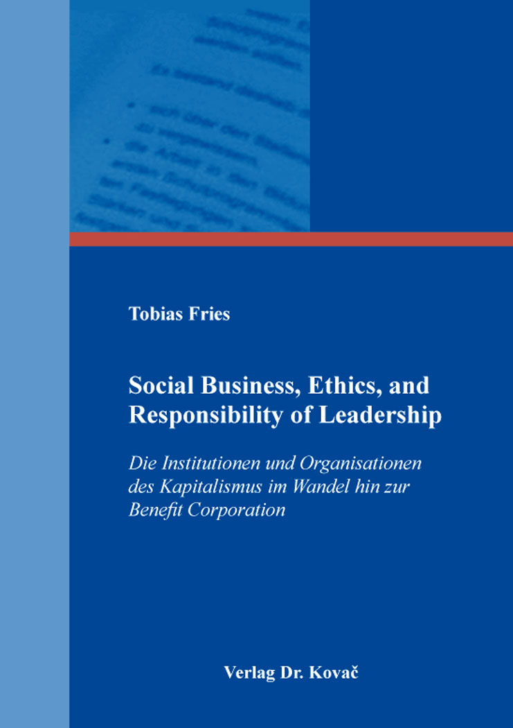 Cover: Social Business, Ethics, and Responsibility of Leadership