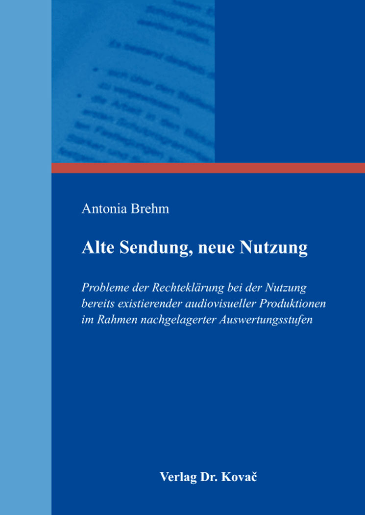 Cover: Alte Sendung, neue Nutzung