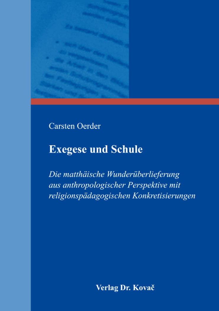 Cover: Exegese und Schule