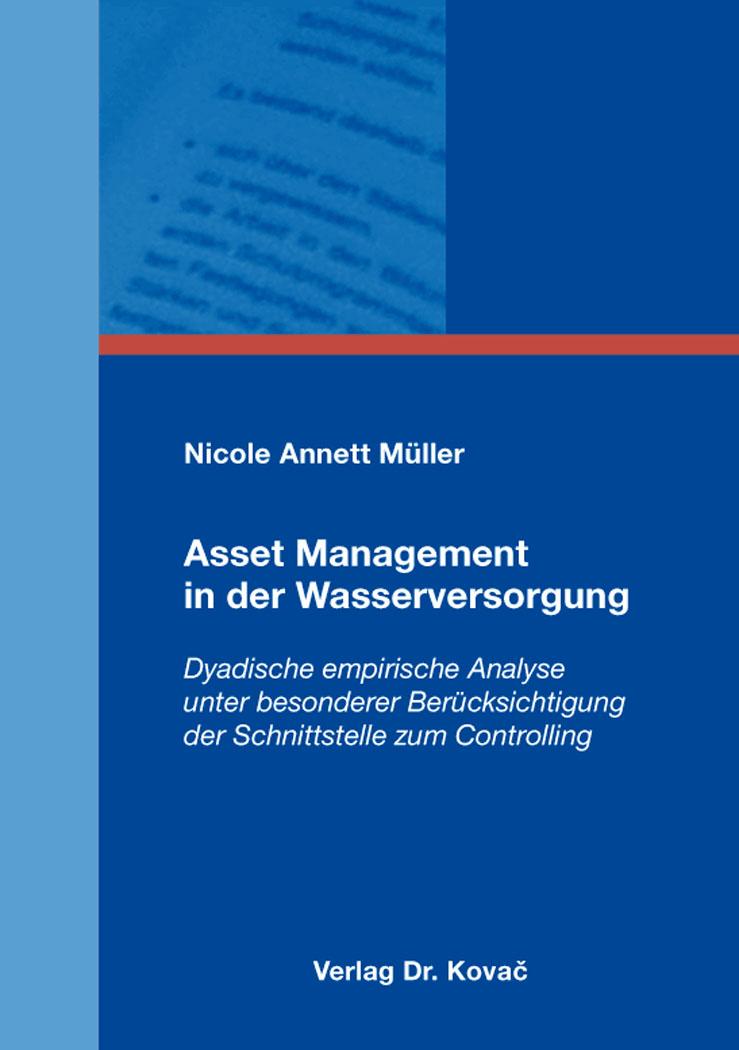 Cover: Asset Management in der Wasserversorgung
