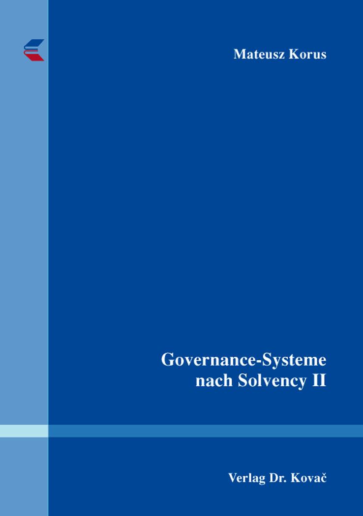 Cover: Governance-Systeme nach Solvency II
