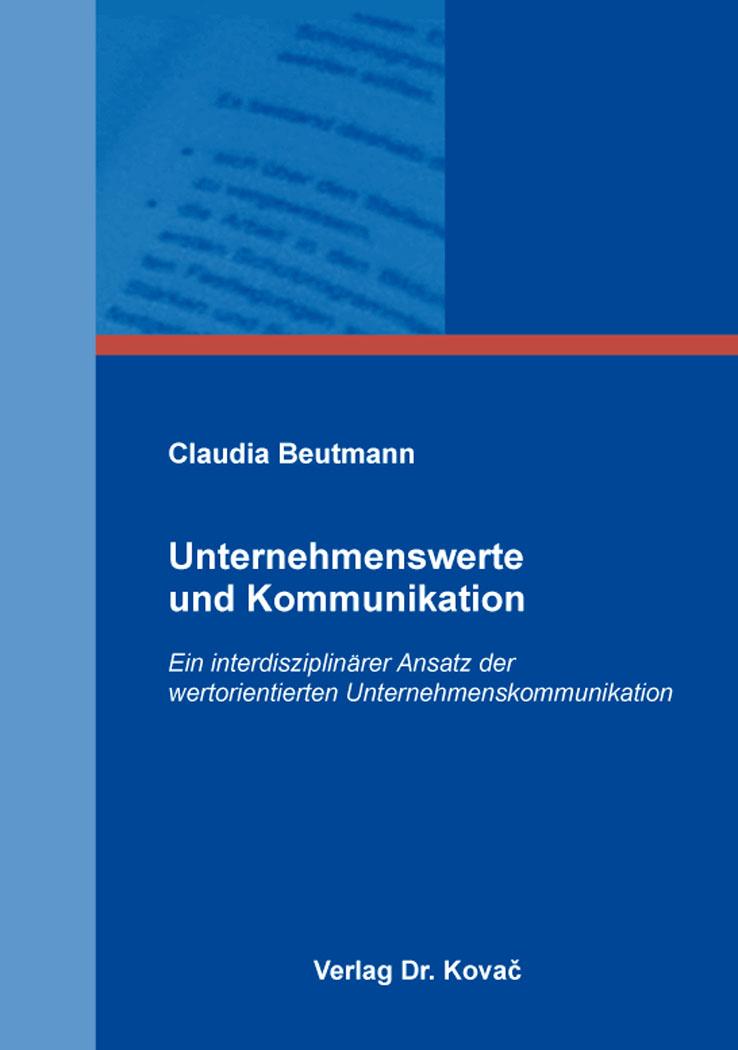 Cover: Unternehmenswerte und Kommunikation