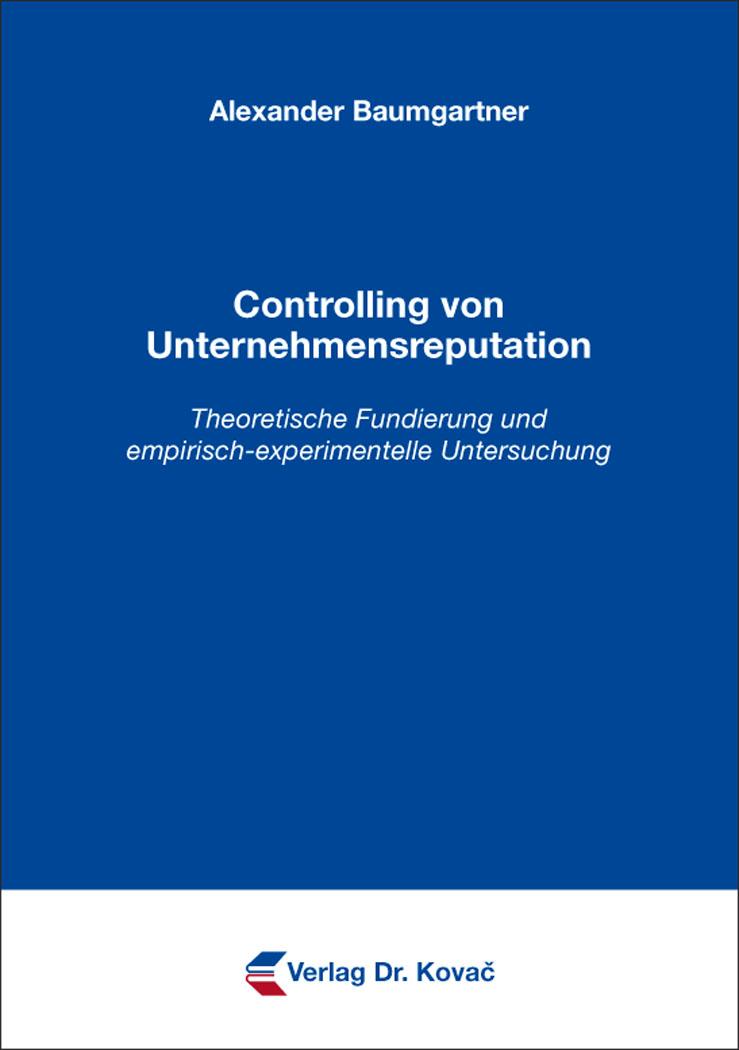 Cover: Controlling von Unternehmensreputation