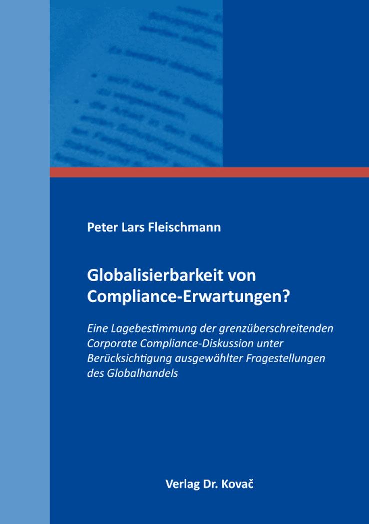 Cover: Globalisierbarkeit von Compliance-Erwartungen?
