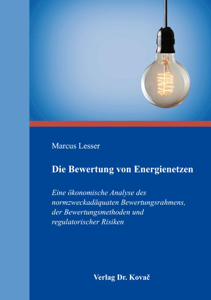 Cover: Die Bewertung von Energienetzen