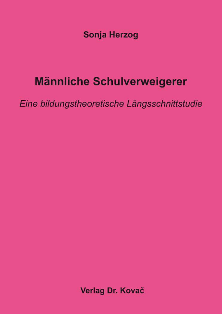 Cover: Männliche Schulverweigerer