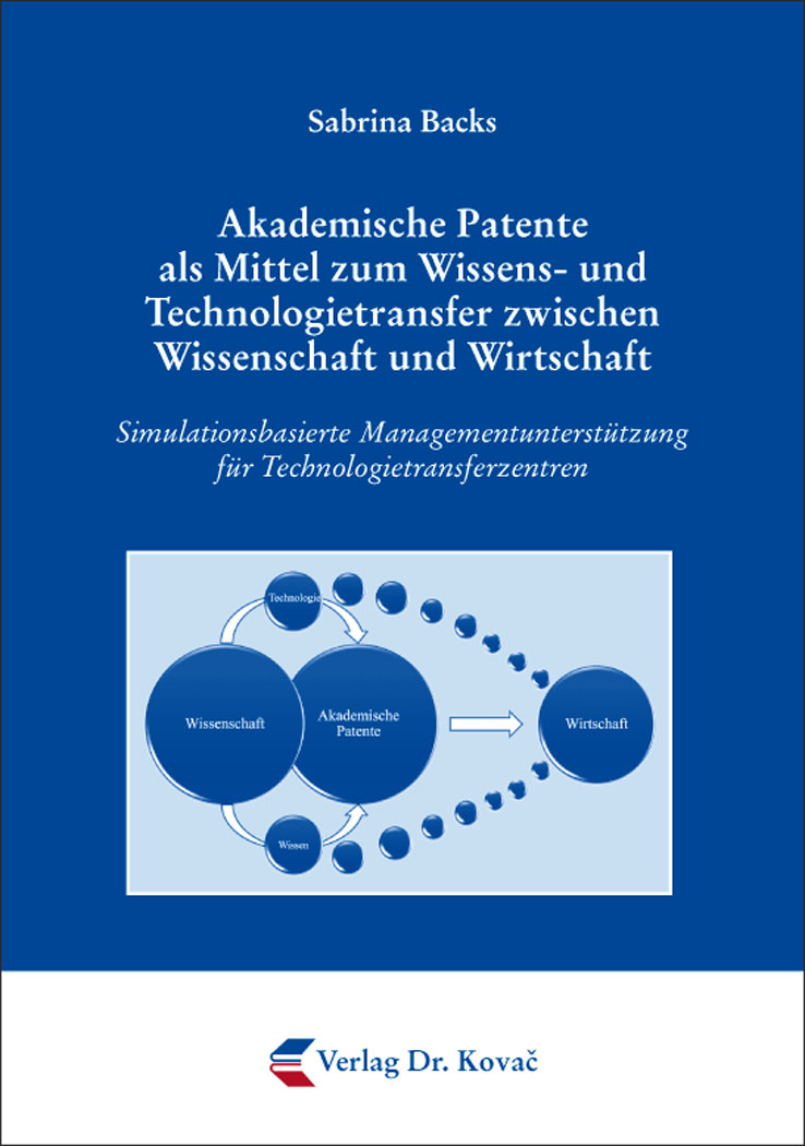 Cover: Akademische Patente als Mittel zum Wissens- und Technologietransfer zwischen Wissenschaft und Wirtschaft
