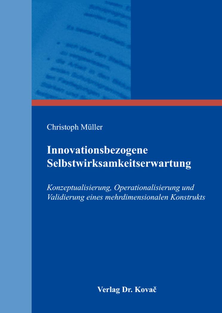 Cover: Innovationsbezogene Selbstwirksamkeitserwartung