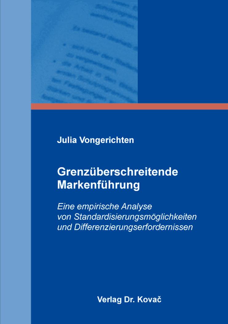 Cover: Grenzüberschreitende Markenführung