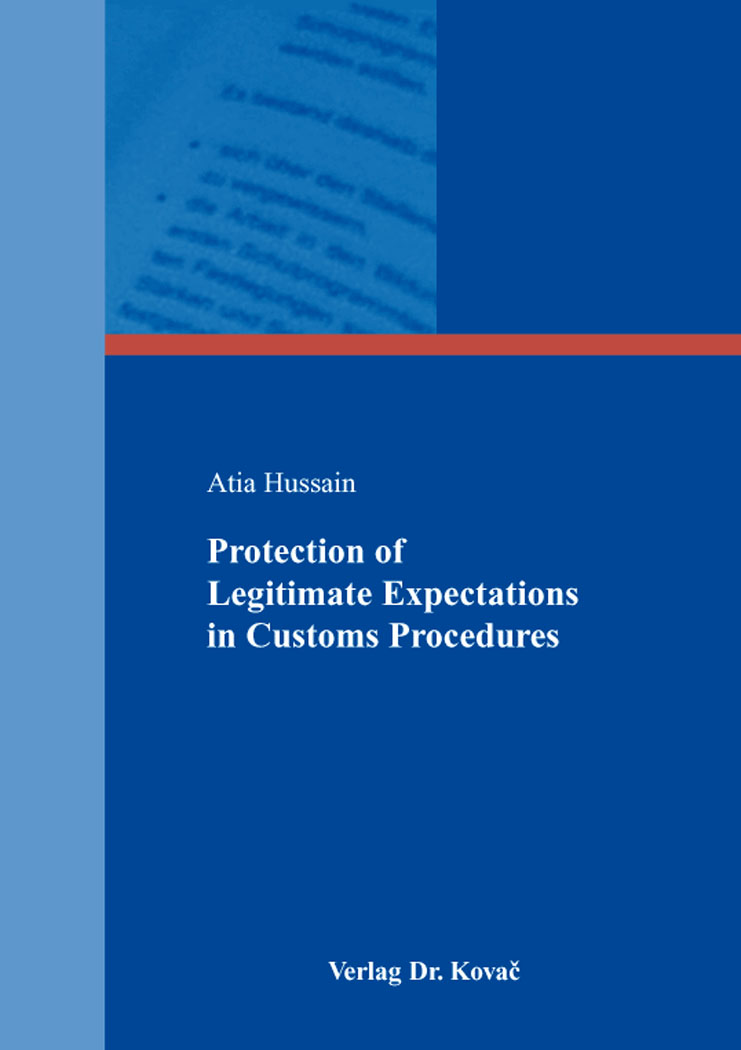 Cover: Protection of Legitimate Expectations in Customs Procedures