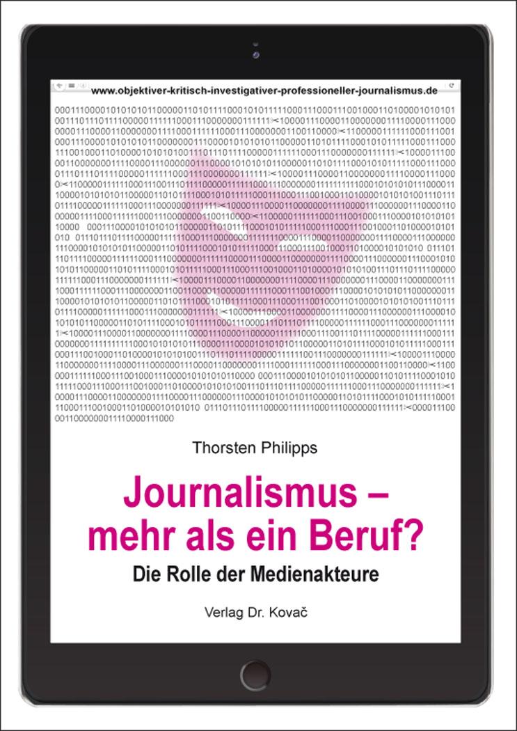 Cover: Journalismus – mehr als ein Beruf?