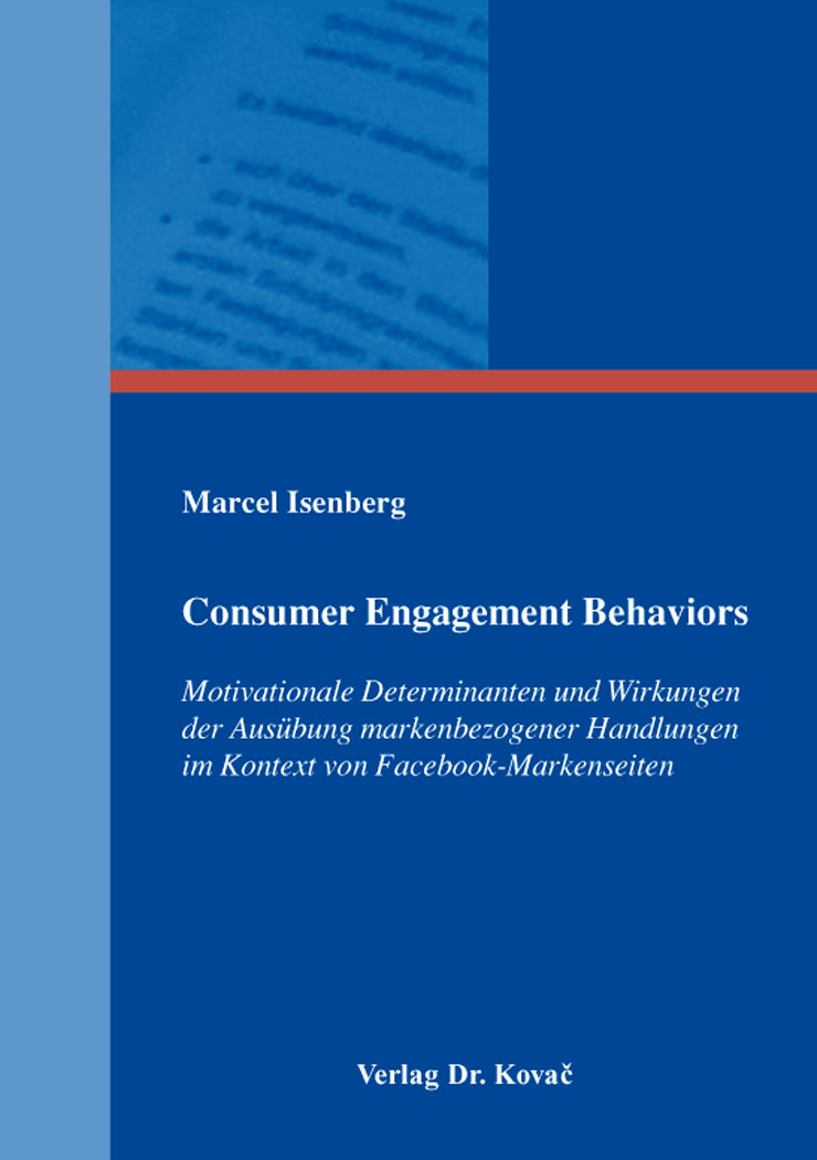 Cover: Consumer Engagement Behaviors