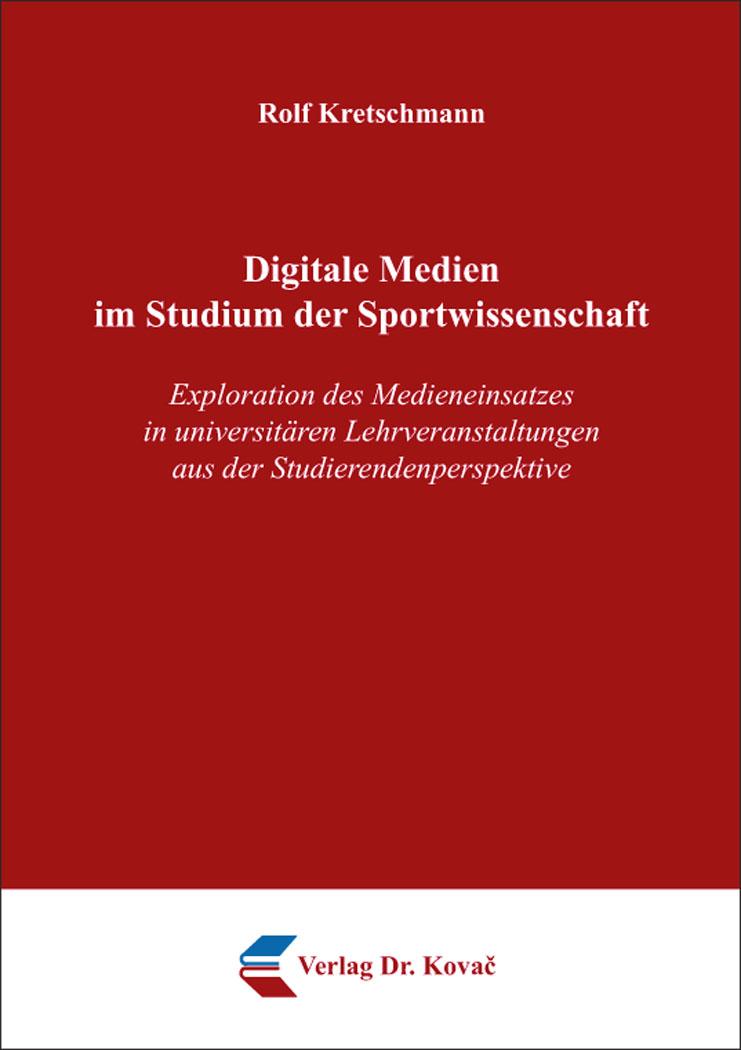 Cover: Digitale Medien im Studium der Sportwissenschaft