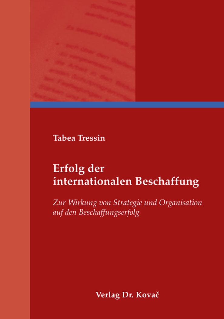 Cover: Erfolg der internationalen Beschaffung