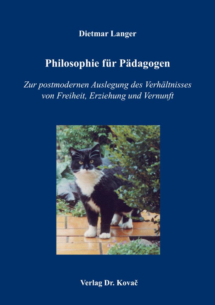 Cover: Philosophie für Pädagogen