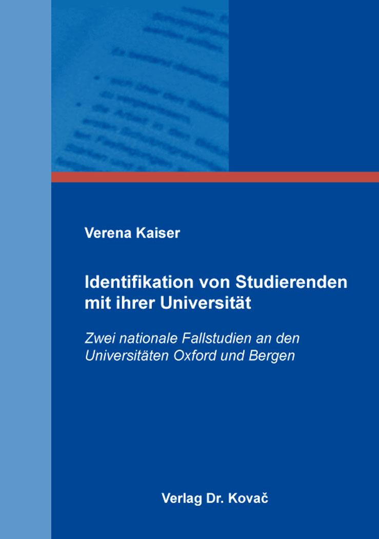 Cover: Identifikation von Studierenden mit ihrer Universität