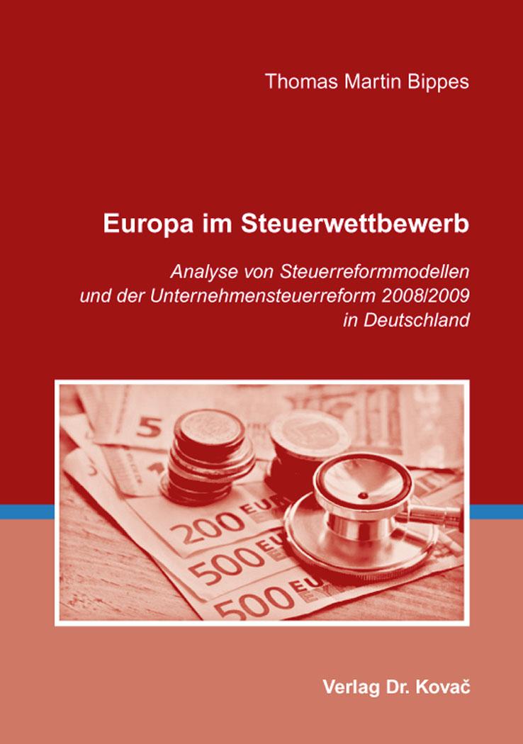 Cover: Europa im Steuerwettbewerb