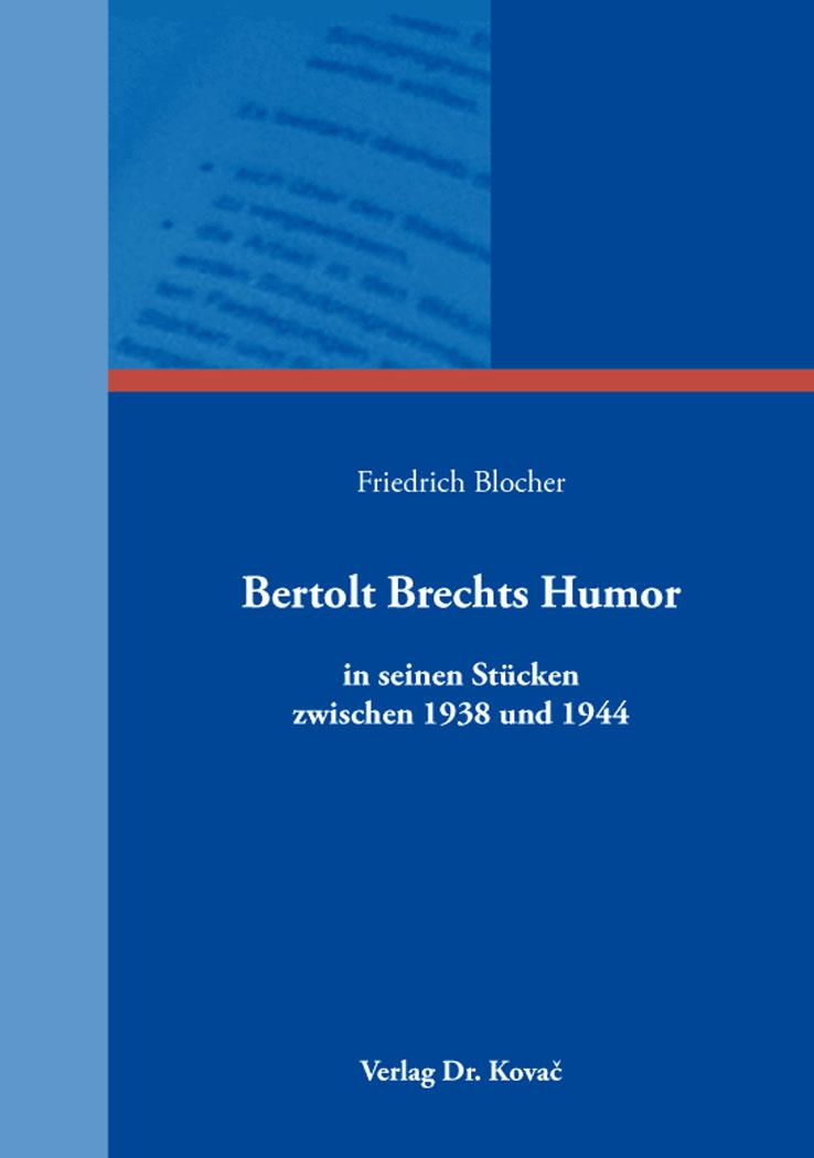 Cover: Bertolt Brechts Humor