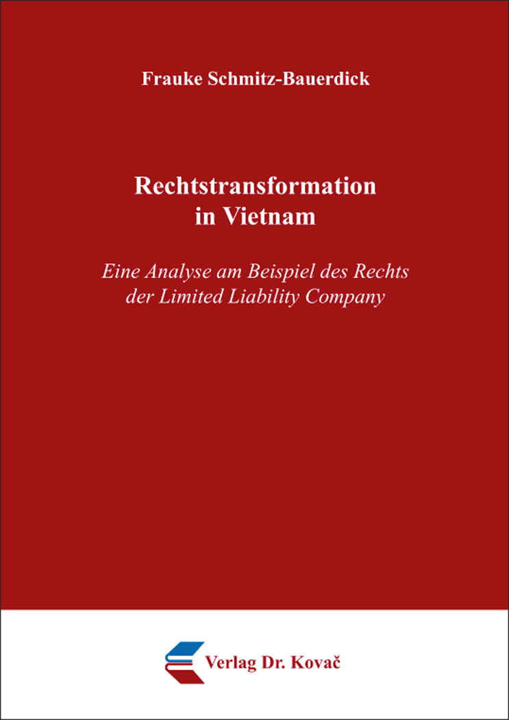 Cover: Rechtstransformation in Vietnam