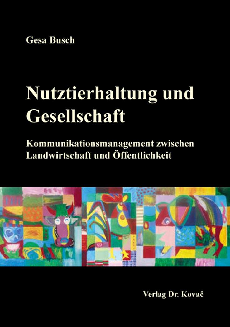 Cover: Nutztierhaltung und Gesellschaft