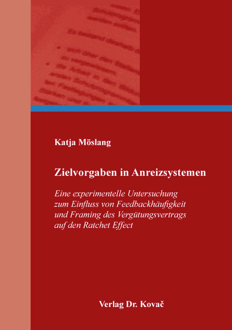 Cover: Zielvorgaben in Anreizsystemen