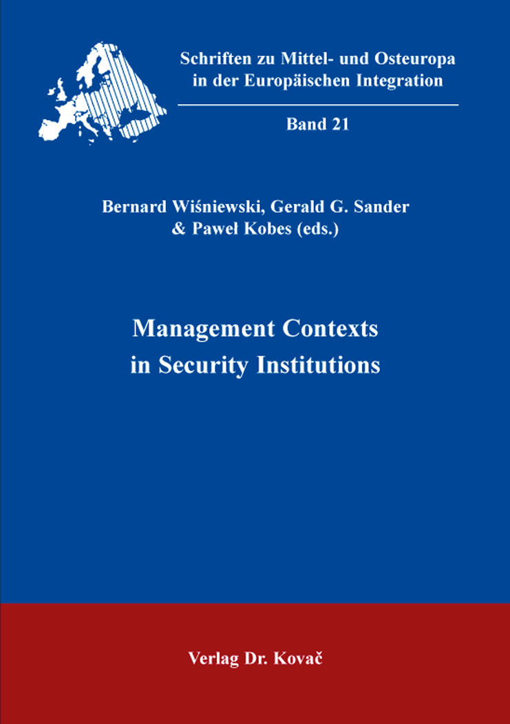 Cover: Management Contexts in Security Institutions