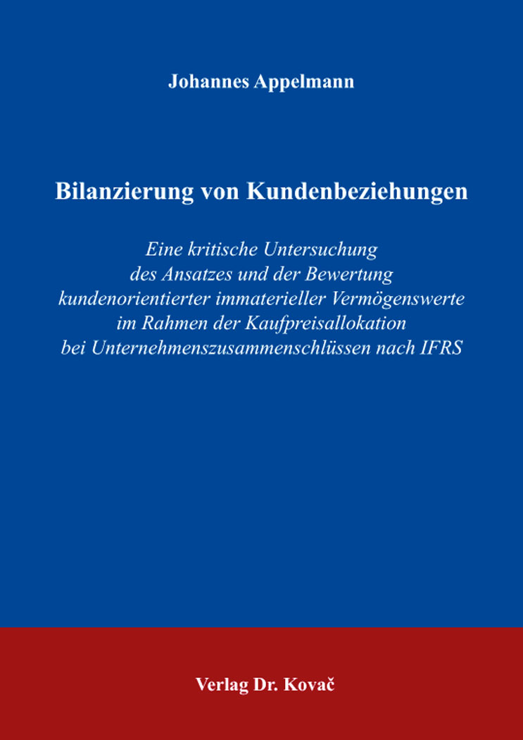Cover: Bilanzierung von Kundenbeziehungen