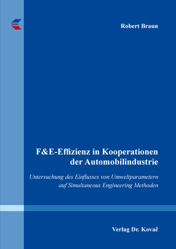 Cover: F&E-Effizienz in Kooperationen der Automobilindustrie