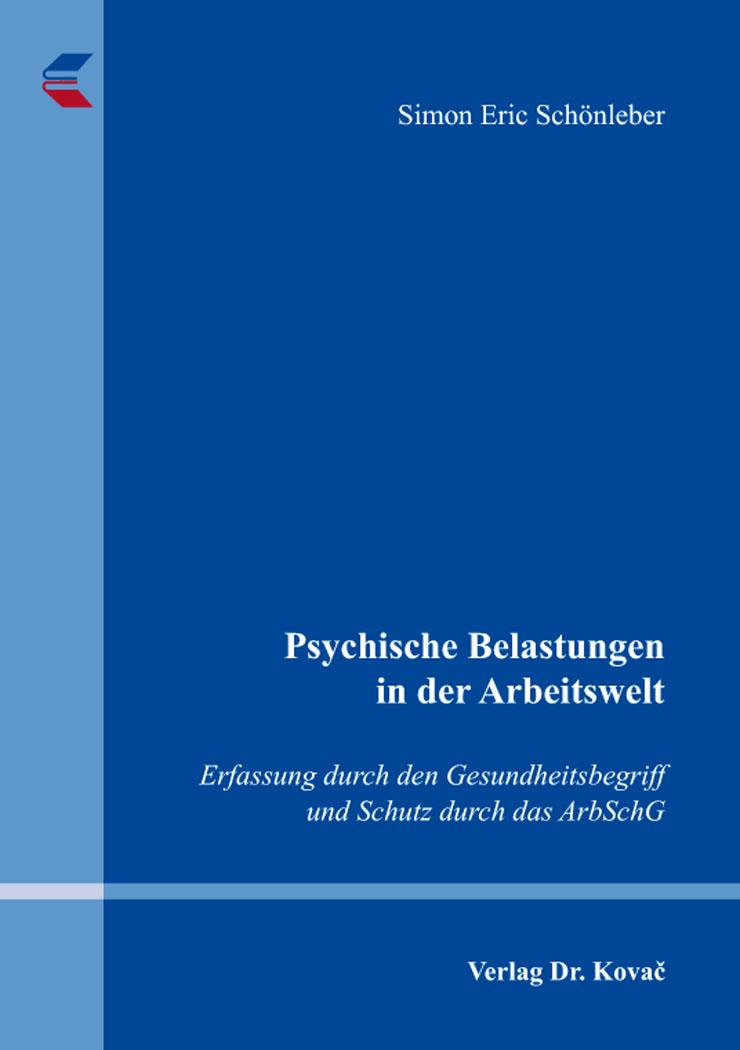 Cover: Psychische Belastungen in der Arbeitswelt