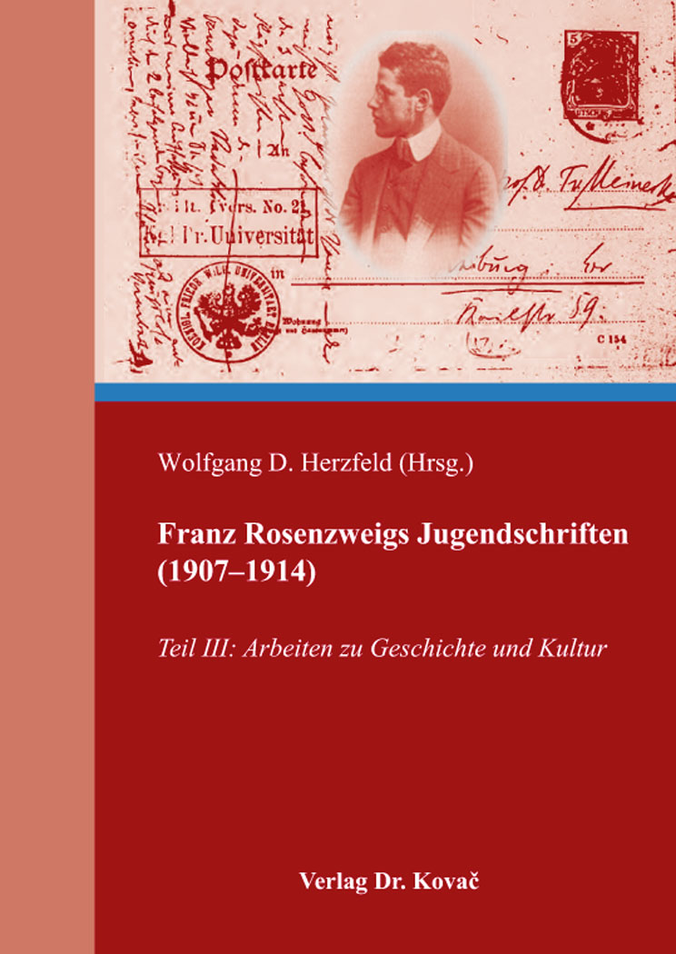 Cover: Franz Rosenzweigs Jugendschriften (1907–1914)