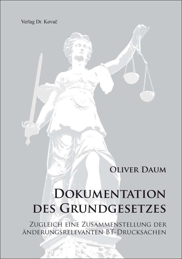 Cover: Dokumentation des Grundgesetzes