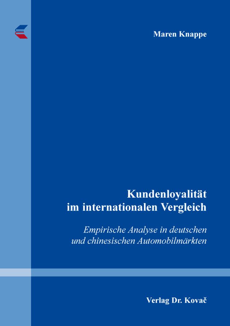 Cover: Kundenloyalität im internationalen Vergleich