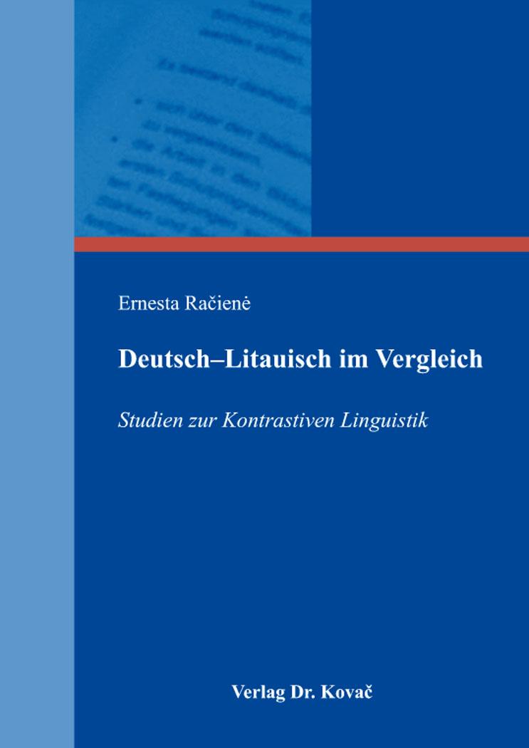 Cover: Deutsch–Litauisch im Vergleich