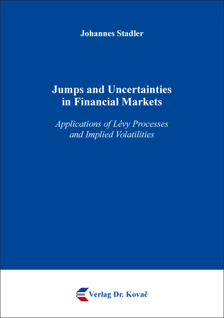 Cover: Jumps and Uncertainties in Financial Markets