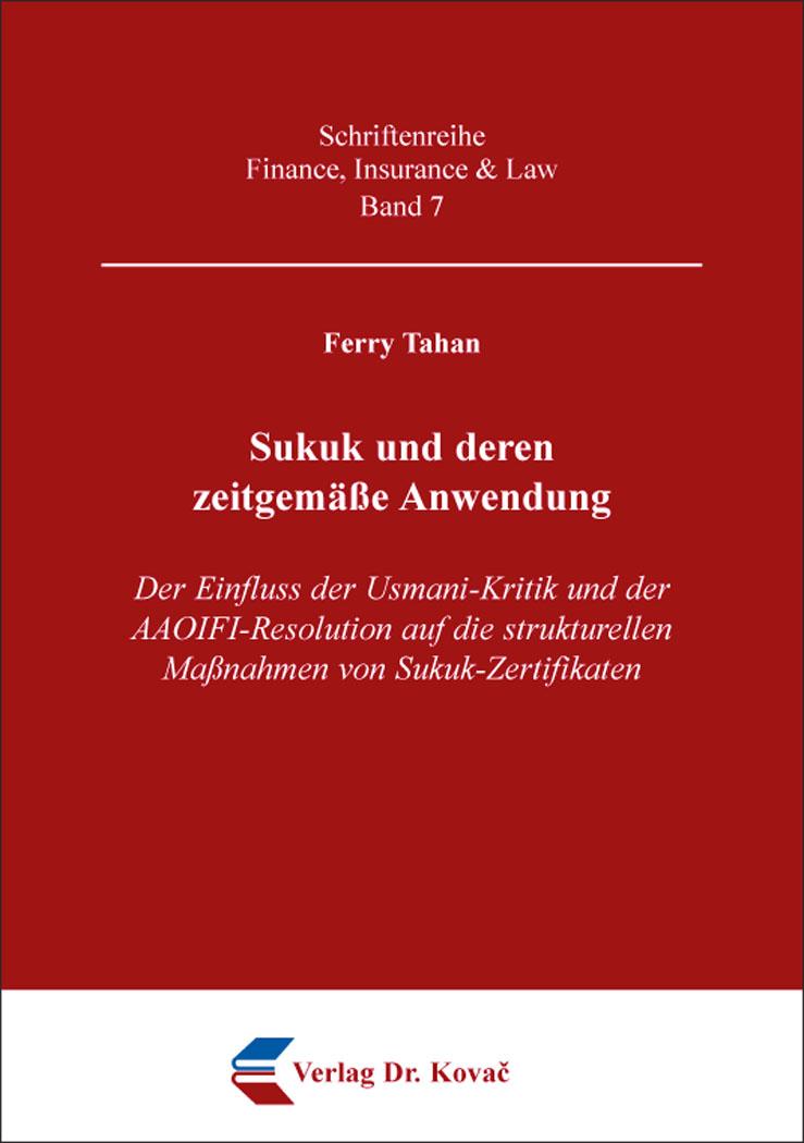Cover: Sukuk und deren zeitgemäße Anwendung