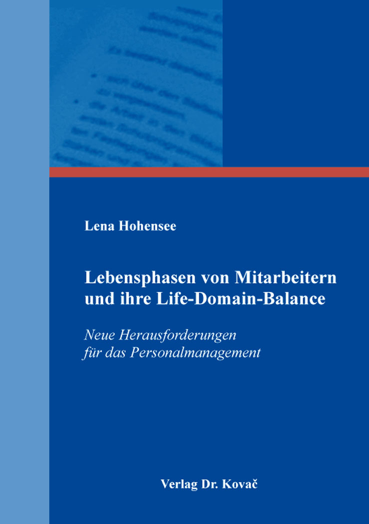 Cover: Lebensphasen von Mitarbeitern und ihre Life-Domain-Balance