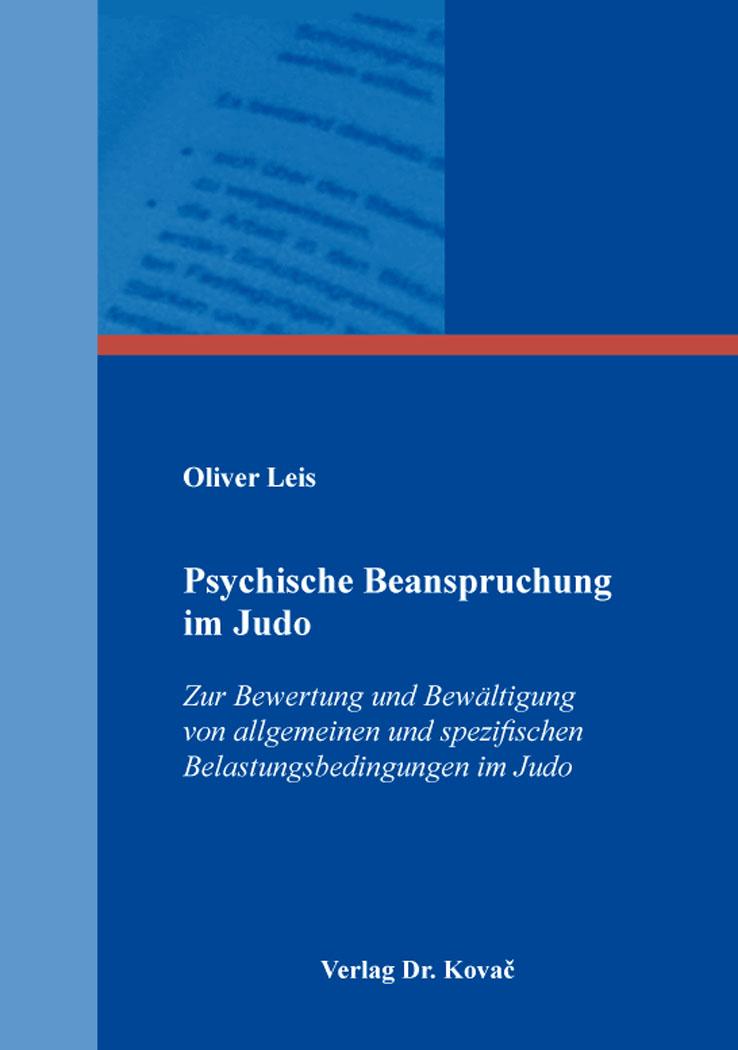 Cover: Psychische Beanspruchung im Judo