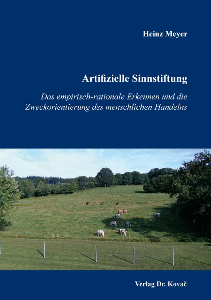 Cover: Artifizielle Sinnstiftung