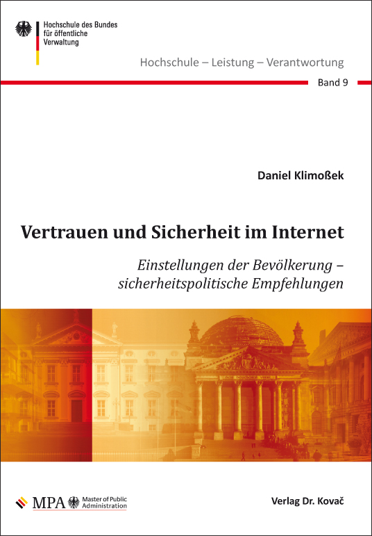 Cover: Vertrauen und Sicherheit im Internet