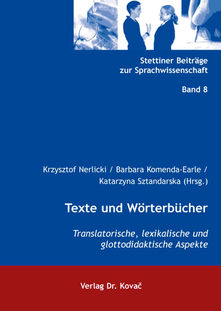 Cover: Texte und Wörterbücher
