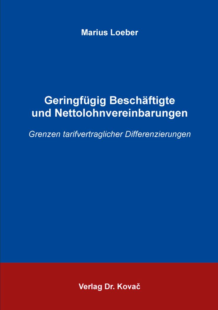 Cover: Geringfügig Beschäftigte und Nettolohnvereinbarungen