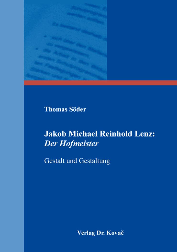 Cover: Jakob Michael Reinhold Lenz: Der Hofmeister