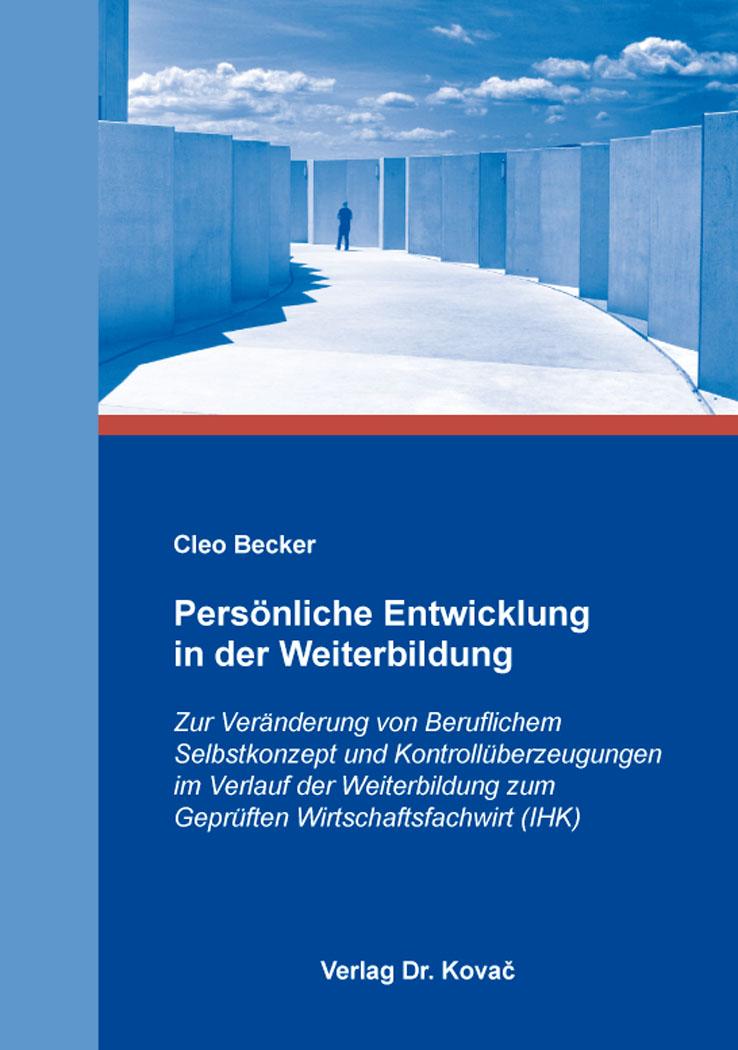 Cover: Persönliche Entwicklung in der Weiterbildung
