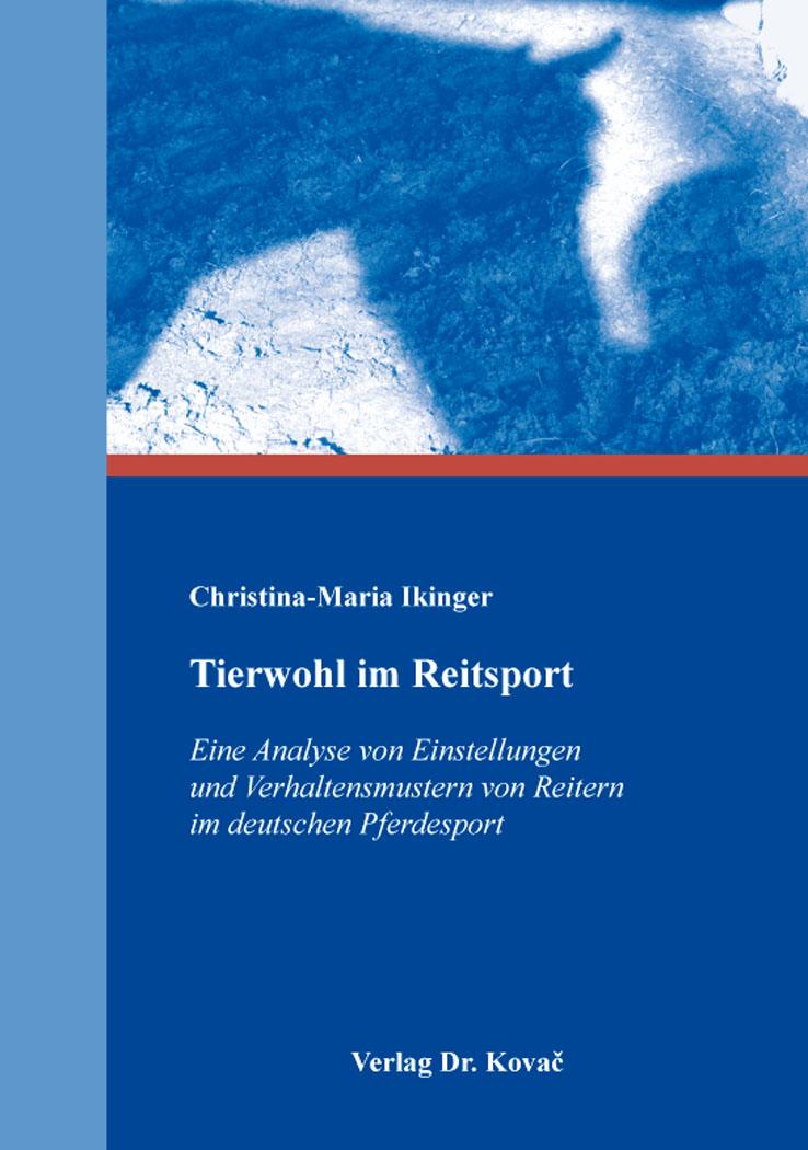 Cover: Tierwohl im Reitsport