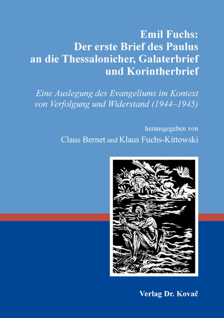 Emil Fuchs Der Erste Brief Des Paulus An Die Thessalonicher