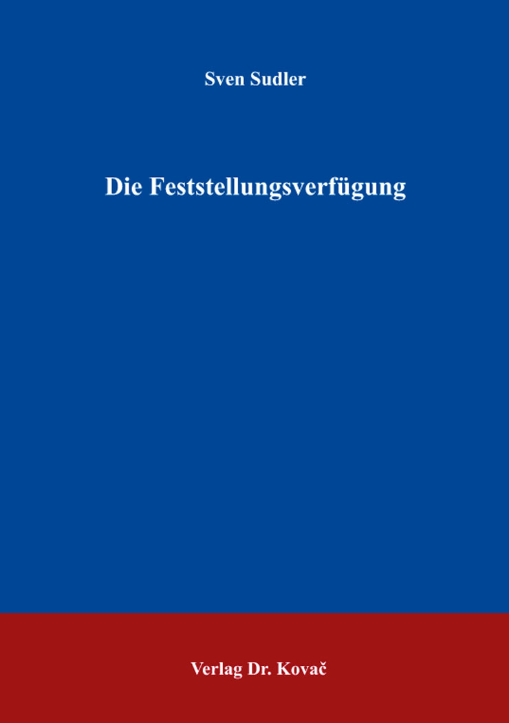 Cover: Die Feststellungsverfügung